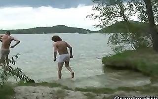 men group sex oldie near lake