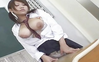 hot japanese hottie acquires spunk flow on