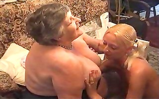 grandma eats a pleasant lesbi hotty