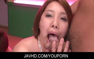 oriental honey yurika momo blows and receive her
