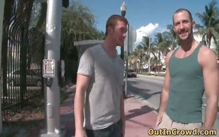 hot hunk takes subrigid schlong up the part0