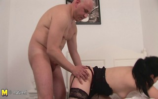 dilettante aged pair fuck and engulf
