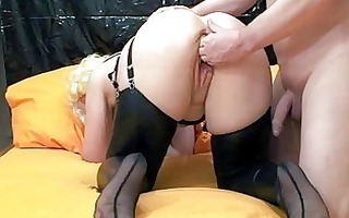 fisting the wifes gaping vagina till she is
