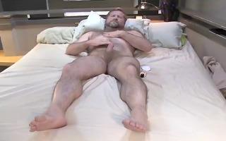 stroking dad bear 0