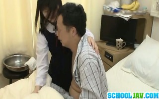 oriental schoolgirl visits female ally in