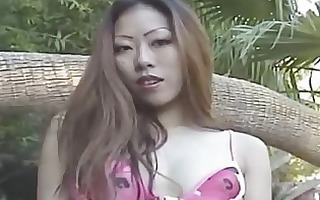 my oriental wife engulf me near the pool