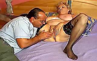 big beautiful woman granny with large milk shakes