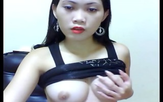 oriental with ideal boobs.