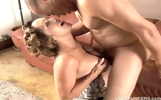 charming granny can live out of to fuck and eat