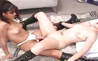 lesbo seduces angel and straps her