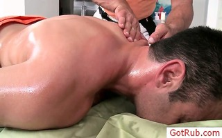 hunky chap getting his st ever gay massage