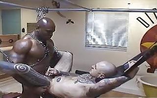 interracial sadomasochism fuckfest with butt