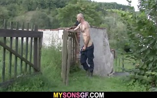he is caught his juvenile gf and old daddy in act