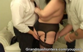 plump grandma acquires hunted and screwed by boys