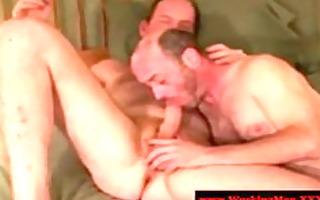 shaggy str trucker giving oral stimulation
