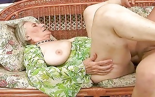 very old granny receives drilled hard