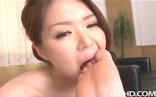 china mimura gives a great rim job in advance of