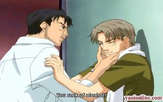 manga homo handjobs his partners penis
