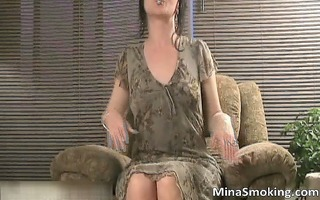 naughty brunette hair doxy stripping part3