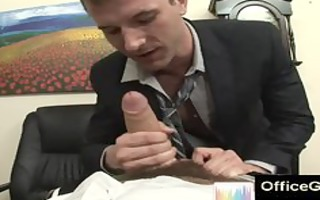sexy homosexual blowjobs at the office