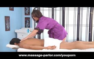 glamorous dark brown amiee cambridge massage and