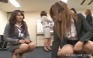 oriental girl acquires finger drilled at work