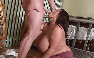 lusty mega breasted mother i chick blows a plump