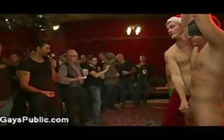 bound homosexual pounder jerked off at xmas party