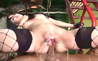 suction plumped meat flaps arse sextoy fucked