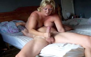 blonde large tited wife rocked