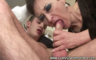 aged granny sucks dick then drilled and can not
