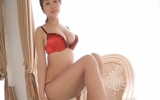 enjoyable asian woman with big milk sacks
