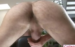hunky college lad busting his nuts part0