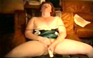 aged lady getting off on fake penis