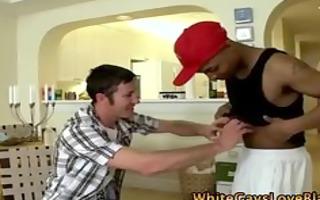 homosexual interracial thug receives off