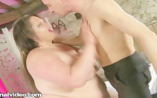 messy british mother i bbw hottie copulates