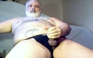 dad bear jerking off it is