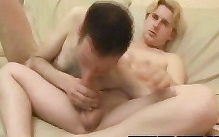 blond guy fucking hairy homosexual arse gap