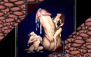 dick engulfing deepthroat sex art