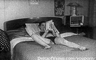 authentic vintage porn 6655s - bald pussy, voyeur