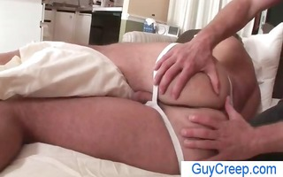 chap receives a-hole rimmed and fingered during