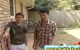 bukkake guy twink receives pounder
