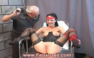 tawny gets her wet crack whipped and clamped