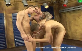 drilled youthful homosexual marvelous wrestlers