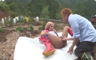 youthful japanese wench acquires a creampy by