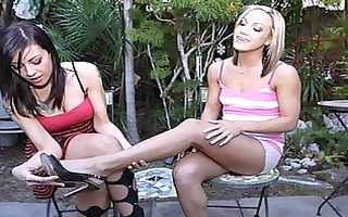 lesbo foot paramours fuck every others feet