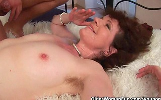 hairy grannies unload a dick on their face and