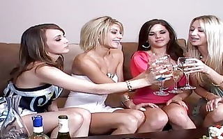 spruce hot hotties acquires drunk and begin