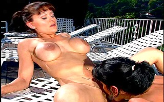 hawt and lewd lesbos go at it is on terrace