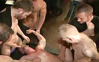 baldheaded homo anal drilled in the club